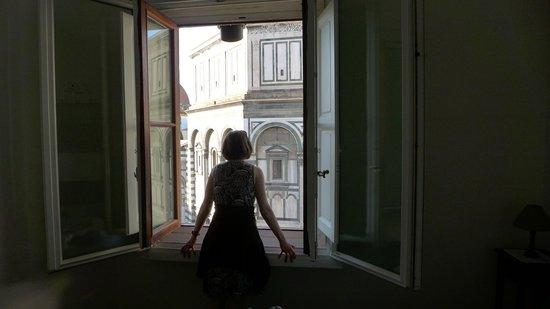 Enjoying the view. - Foto di Soggiorno Battistero, Firenze - TripAdvisor