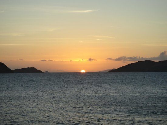 Christopher St Barth: sunset view from the room