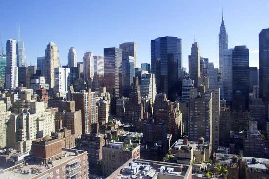 Dumont NYC–an Affinia hotel: NYC view from our room.