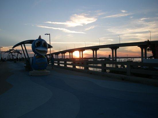 Vilano Beach Garden Inn : sunset in St. Augustine