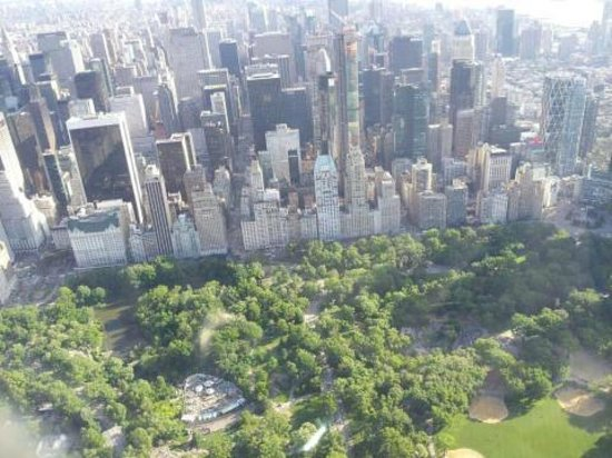 Wings Air Helicopters: Central Park with a southerly view of Manhattan
