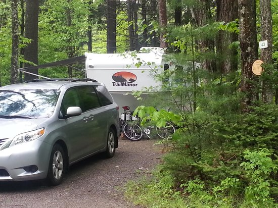 Moose Hillock Campground: Our site...