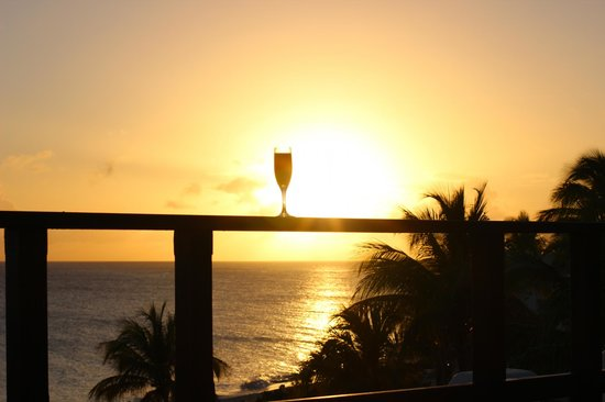 Belmond La Samanna: Our sunset views everyday from our rooftop patio