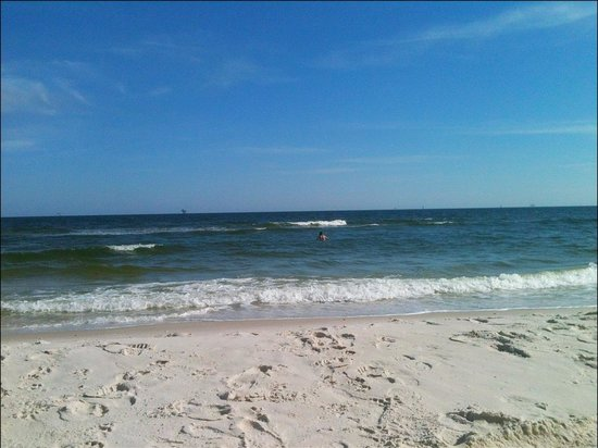 Dauphin Island Public Beach A View Of The Water