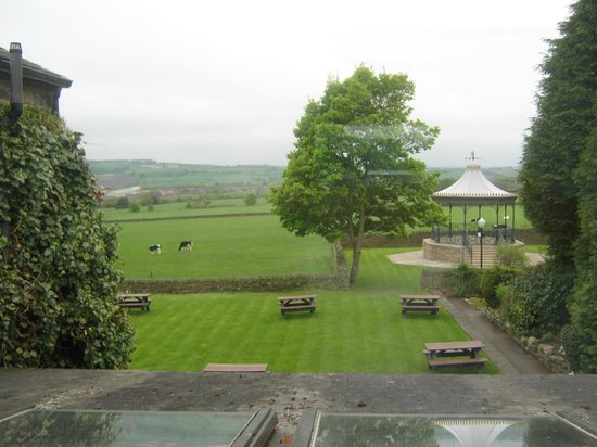 Cubley Hall: View from our bedroom window