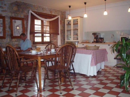 Hospederia Santillana: Zona de desayuno