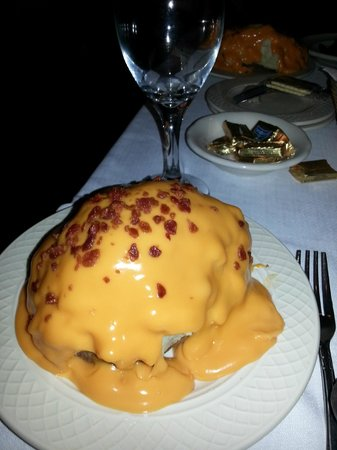 Connell's Supper Club: Stuffed baked potato -- HUGE!