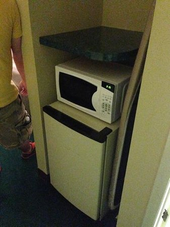 Ramada Limited Columbia: fridge and microwave in our room