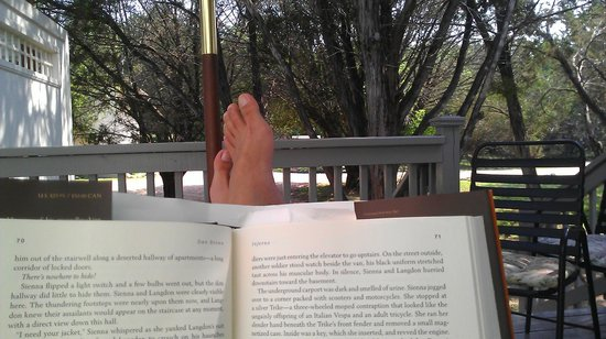 Cypress Creek Cottages : Relaxing with a good book