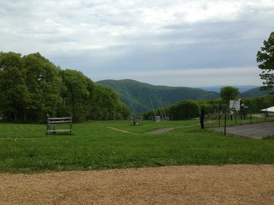 Wintergreen Resort: View of Ski Slopes in off season (hiking and biking slopes)