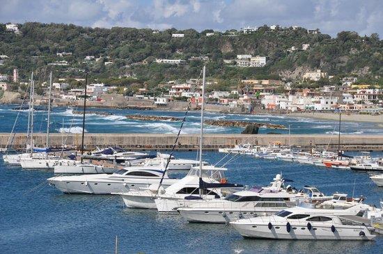 Hotel Villa Carolina: Panoramica del porto di Forio dalla stanza  dell'hotel