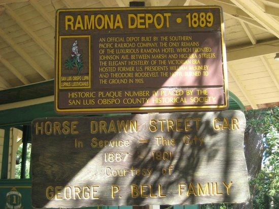 Dallidet Adobe and Gardens: 1889 Depot Description