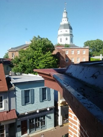 Historic Inns of Annapolis : View from bathroom window in the Maryland Inn