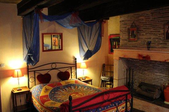 Le Colombier de Cyrano et Roxane: La habitación.