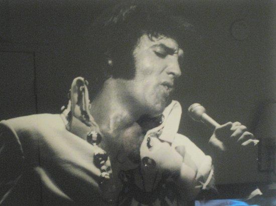 Elvis Presley's Heartbreak Hotel: Elvis pix are everywhere!