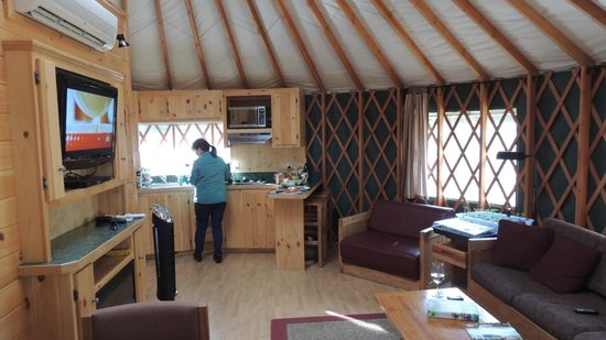 Normandy Farms Family Camping Resort : view inside our Yurt