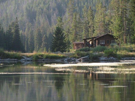 Flat Creek Ranch cabin on lake and creek