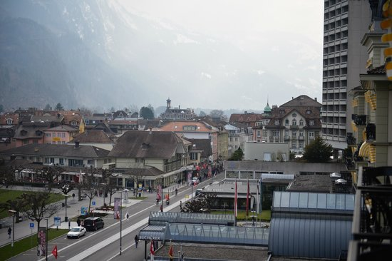 Victoria Jungfrau Grand Hotel & Spa : City View from the Balcony