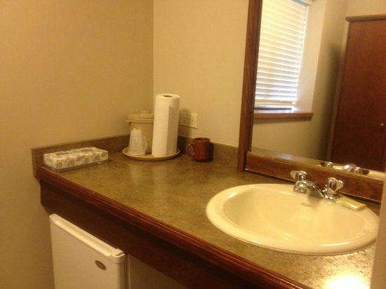 Roosevelt Inn: Extra sink, fridge.