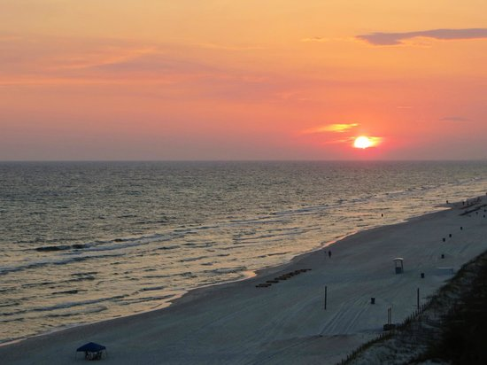 Beachcomber By The Sea: sunset from balcony