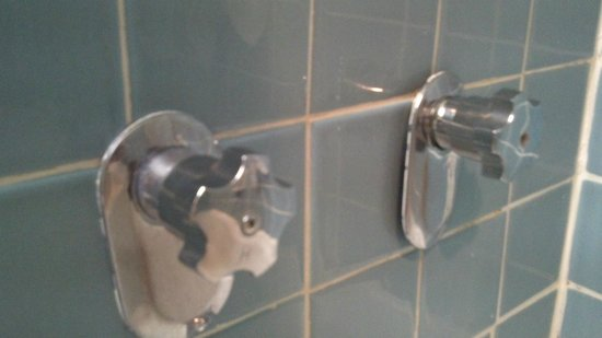 Ramada Ithaca Hotel and Conference Center: Collars on faucets dangling and not secured to wall.