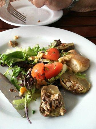 Baladi Mediterranean Cafe: Maqdoos---a yummy appetizer