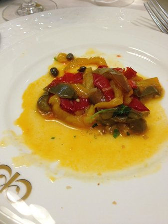 Le Cheminee Business Hotel: roasted peppers