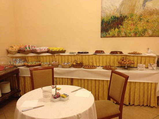 Le Cheminee Business Hotel: Breakfast table