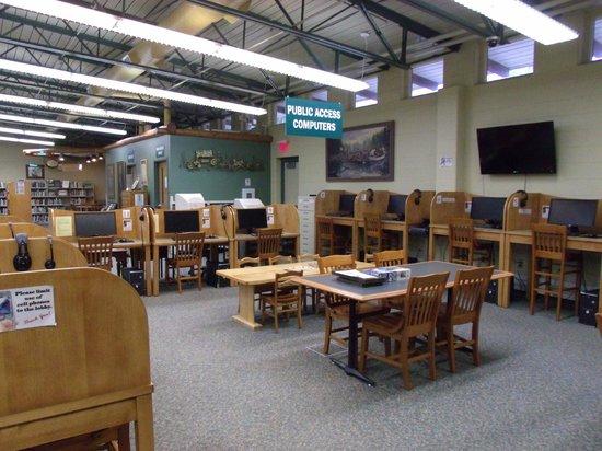 Crawford County, Μίσιγκαν: library computer lab