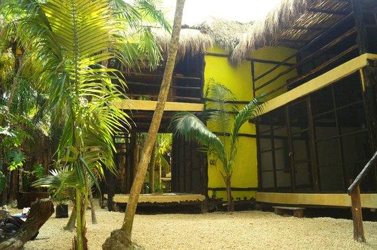 Hotel Tunich: vista de las cabañas en tulum