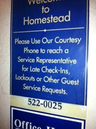 Extended Stay America - Atlanta - Perimeter - Hammond Drive: After hours instructions