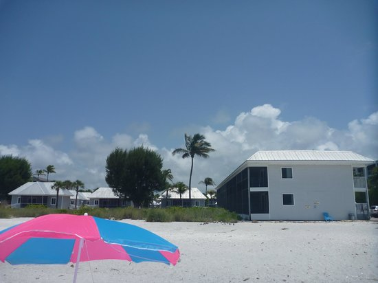 Shalimar Cottages and Motel : View of Hotel from Beach