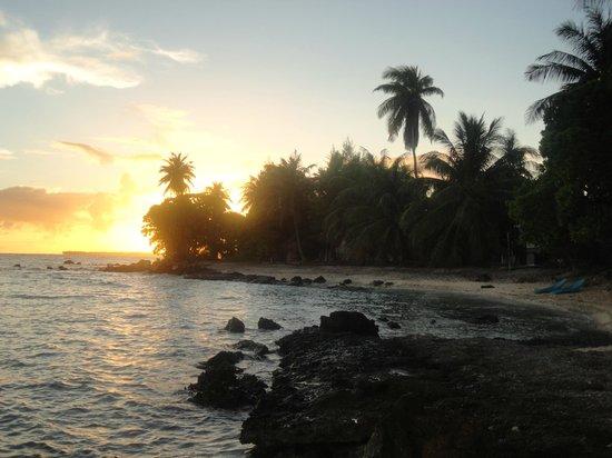 Hotel Raira Lagon : coucher de soleil de la plage