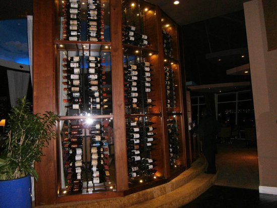 Cool Wine Rack Picture Of Windows On Aruba Restaurant Aruba Tripadvisor