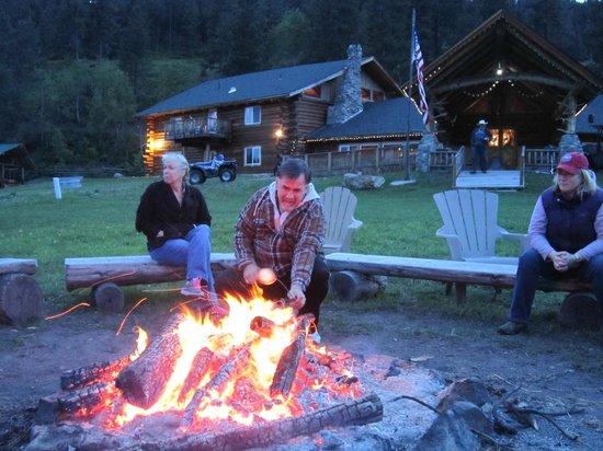 K-Diamond-K Guest Ranch: Roasting marshmallows