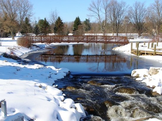 Crawford County, MI: City Park in the winter
