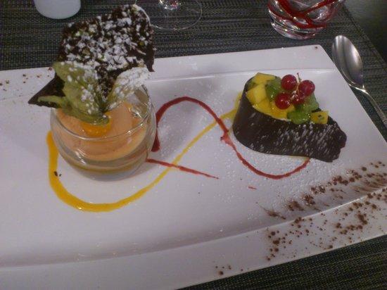 La Courtine: Dessert chocolat