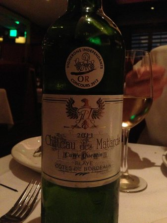 Cheval Bistro: We had this wine with dinner