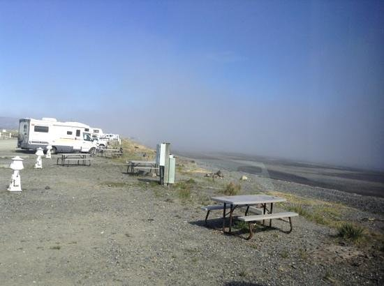 Heritage RV Park: morning fog rolling out