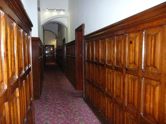 Wood Paneled Ground Level Corridor To Our Room Picture