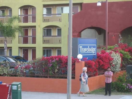 Travelodge San Diego Downtown Convention Center: new paint & flowers galore