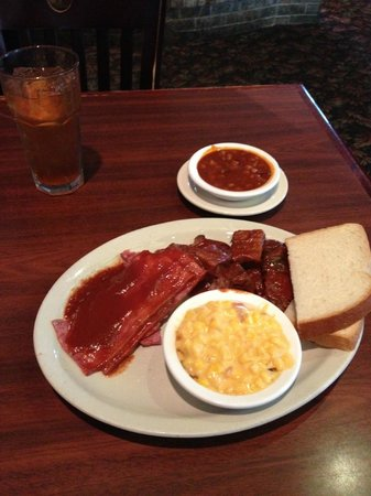 Smokehouse BBQ Combo Plate for lunch