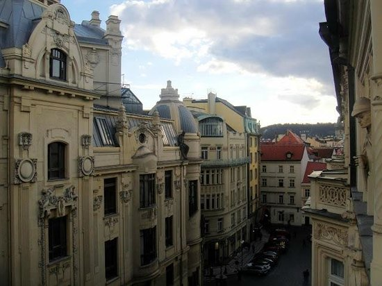 Hotel Paris Prague : View from the 4th floor balcony