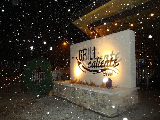 Grill Caliente: A snowy evening