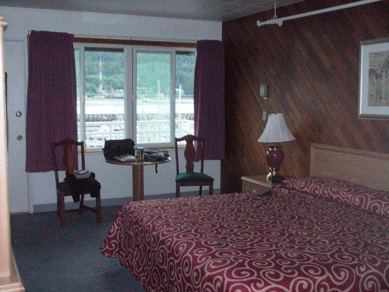 Breakwater Inn: This was my room on the second floor waterfront side.