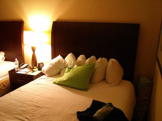 Hilton Garden Inn Dulles North: Bright bed, dark bed