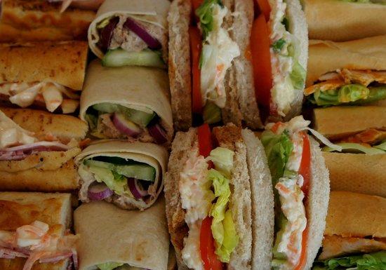 JJ's Kitchen: Sandwich platter up close