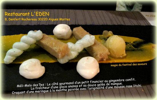 Eden : Dessert Meli-Melo des Iles