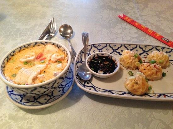 Thai Basil Incorporated: soup and steamed dumplings