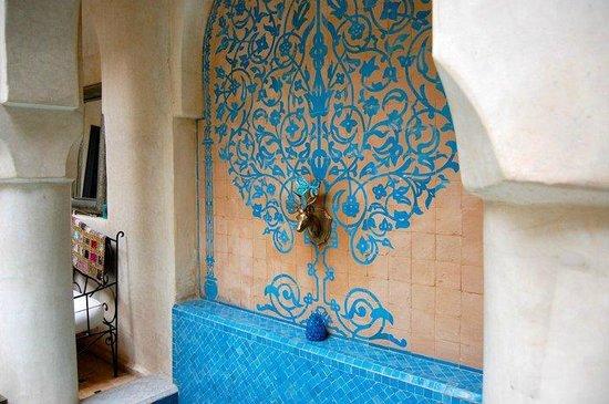 Riad Papillon: Foot pool